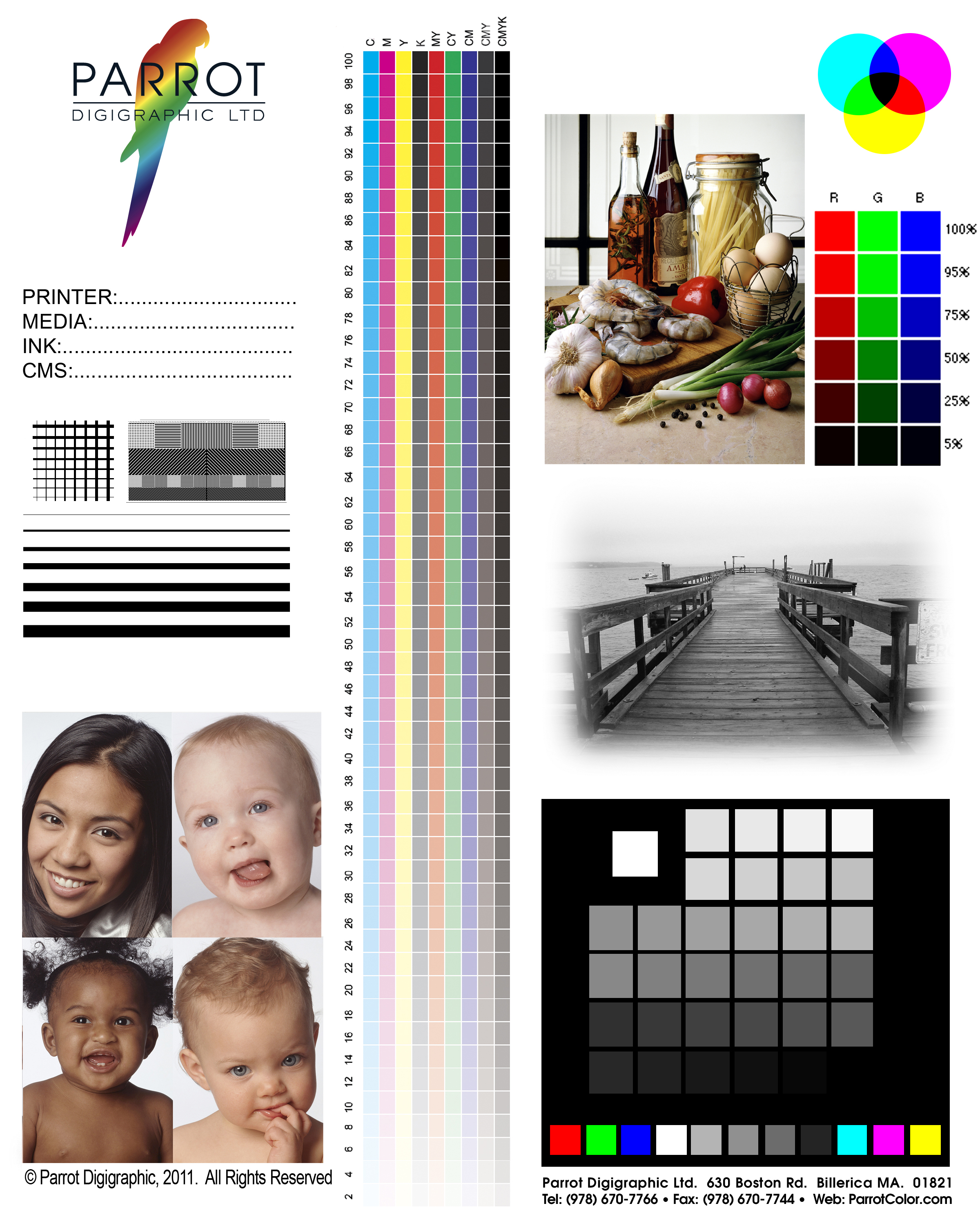 instructions - Color Test Page Inkjet Printer