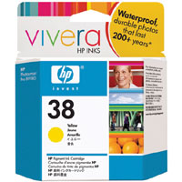 HP 38 Yellow Pigment ink Cartridge