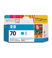 HP 70 Cyan Vivera Ink Cartridge for Z2100 Only
