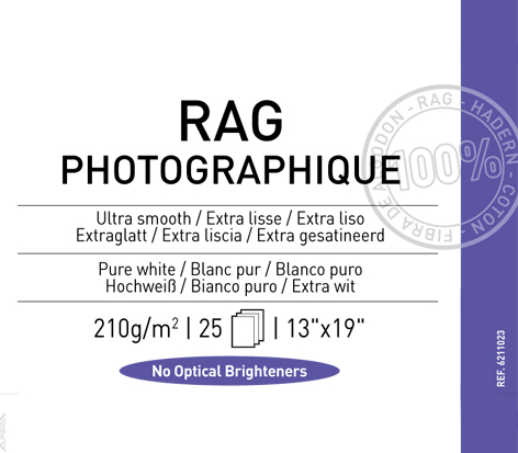 "Rag Photographique 210 gsm - 13"" x 19"""