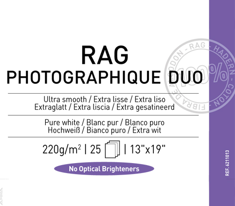 "Rag  Photographique Duo  220 gsm - 13"" x 19"""