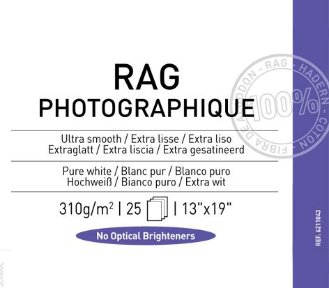 """Rag Photographique 310 gsm - 13"""" x 19"""""""