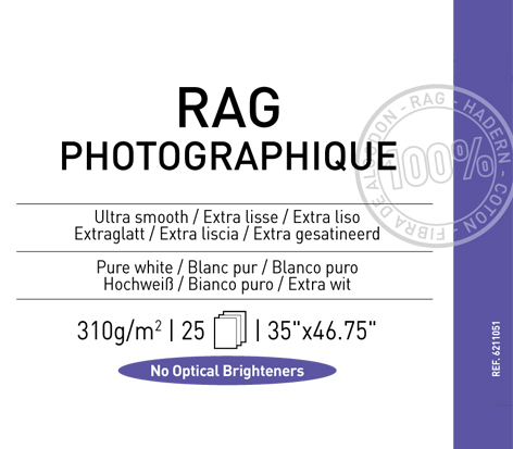 "Rag Photographique 310 gsm - 35"" x 46.75"""