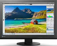 "Eizo Professional Photo Color Kit 24"" Wide Screen Wide Color Gamut LED  Backlit Black Monitor"