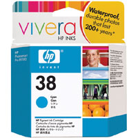 HP 38 Cyan Pigment ink Cartridge