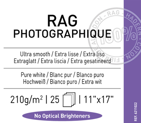 "Rag Photographique 210 gsm - 11"" x 17"""