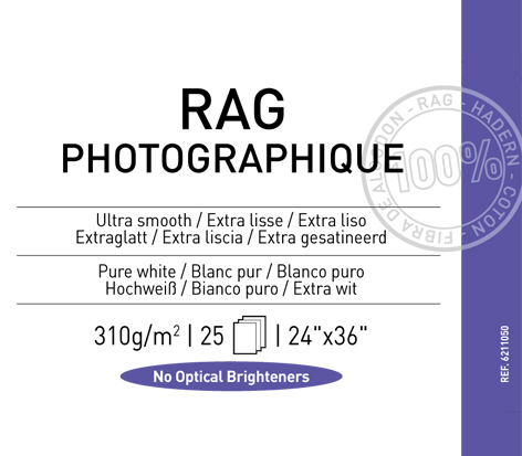"Rag Photographique 310 gsm - 24"" x 36"""